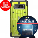 Samsung Galaxy Note 8 Double Advantage Bundle Tekya Liquid Glass with UAG Plasma- Citron