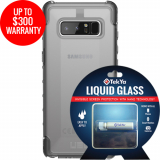 Samsung Galaxy Note 8 Double Advantage Bundle Tekya Liquid Glass with UAG Plyo- Clear