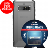 Samsung Galaxy Note 8 Double Advantage Bundle Tekya Liquid Glass with UAG Plyo- Smoke