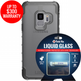 Samsung Galaxy S9 Double Advantage Bundle Tekya Liquid Glass with UAG Plyo - Clear