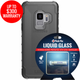 Samsung Galaxy S9 Double Advantage Bundle Tekya Liquid Glass with UAG Plyo -Smoke