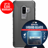 Samsung Galaxy S9+ Double Advantage Bundle Tekya Liquid Glass with UAG Plyo - Smoke