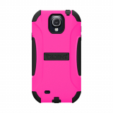 Samsung Galaxy S4 Trident Aegis Series Case - Hot Pink/Black
