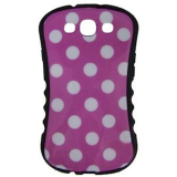 Samsung Galaxy S III Onion Thin Waist Case - Pink with White Polka Dots