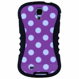 Samsung Galaxy S4 Onion Thin Waist Case - Pink with White Polka Dots