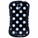 Samsung Galaxy S4 Onion Thin Waist Case - Black with White Polka Dots