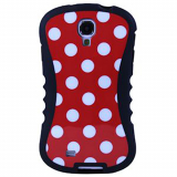 Samsung Galaxy S4 Onion Thin Waist Case - Red with White Polka Dots