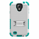 Samsung Galaxy S4 Active TriShield Case - White/Light Blue