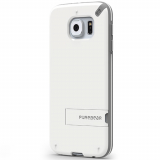 Samsung Galaxy S6 PureGear Slim Shell With Kickstand Case - White/Grey