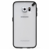 Samsung Galaxy S6 Edge PureGear Slim Shell Case - Clear/Black
