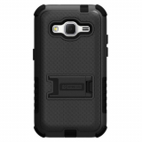 Samsung Galaxy Core Prime Beyond Cell Tri Shield Case - Black/Black