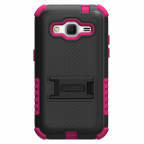 Samsung Galaxy Core Prime Beyond Cell Tri Shield - Black/Hot Pink