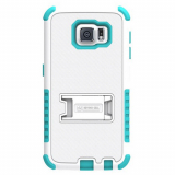 Samsung Galaxy S6 Beyond Cell Tri Shield Case - White/Light Blue