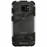 Samsung Galaxy S6 Tekya Zaniah Series 3D Case - Clear/Black
