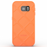Samsung Galaxy S6 Dog & Bone Wetsuit Impact Waterproof Case - Electric Orange