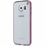 Samsung Galaxy S6 PureGear Slim Shell Pro Case - Clear/Pink