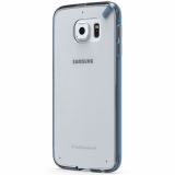 Samsung Galaxy S6 PureGear Slim Shell Pro Case - Clear/Blue