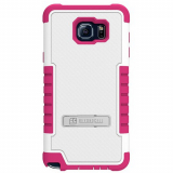 Samsung Galaxy Note 5 Beyond Cell Tri Shield Case - White/Hot Pink