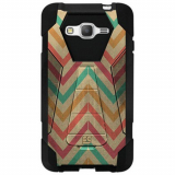 Samsung Galaxy Grand Prime Beyond Cell Shell Case Hyber V2 Case - Pastel Chevron