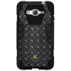 Samsung Galaxy Grand Prime Beyond Cell Shell Case Hyber V2 Case - Black Diamond Steel