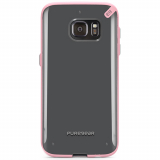 Samsung Galaxy S7 PureGear Slim Shell Series Case - Clear/Pink