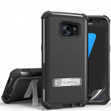 Samsung Galaxy S7 Beyond Cell Tri Shield Case - Black/Black