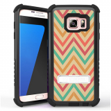 Samsung Galaxy S7 Beyond Cell Tri Shield Case - Pastel Chevron