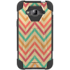 Samsung Galaxy J3 Beyond Cell Shell Case Hyber 2 Series Case - Pastel Chevron