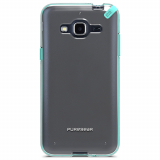 Samsung Galaxy J3 PureGear Slim Shell Case - Clear/Mint