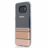 Samsung Galaxy S7 Incipio Design Glam Series Case - Wesley Stripes Rose Gold