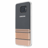 Samsung Galaxy S7 Edge Incipio Design Glam Series Case - Wesley Stripes Rose Gold
