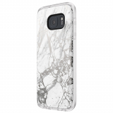 Samsung Galaxy S7 Incipio Design Series Case - White/Silver Marble