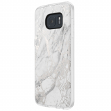 Samsung Galaxy S7 Edge Incipio Design Glam Series Case - White/Silver Marble