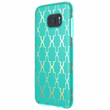 Samsung Galaxy S7 Edge Incipio Design Glam Series Case - Teal/Gold Maynard