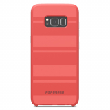 Samsung Galaxy S8+ PureGear SoftTek Case - Pink with Stripes