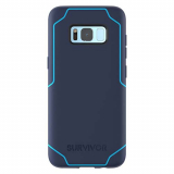 **NEW**Samsung Galaxy S8 Griffin Survivor Strong Series Case - Navy/Coral Blue