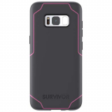 Samsung Galaxy S8+ Griffin Survivor Strong Series Case - Gray/Pink
