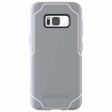 Samsung Galaxy S8+ Griffin Survivor Strong Series Case - Gray/White