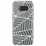 Samsung Galaxy S8 Rebecca Minkoff Sheer Case Geometric Wall Clear/Holographic Foil