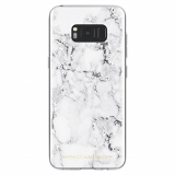 Samsung Galaxy S8 Rebecca Minkoff Sheer Case - Marble Print Clear/Black Foil