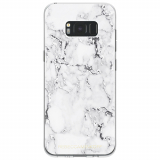 Samsung Galaxy S8+ Rebecca Minkoff Sheer Case - Marble Print Clear/Black Foil