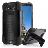 Samsung Galaxy S8 Beyond Cell Shell Case Hyber 2 Series Case - Carbon Fiber