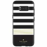 Samsung Galaxy S8 Kate Spade New York Hardshell Case - Black Gold Stripe