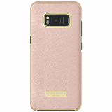 Samsung Galaxy S8+ Kate Spade New York Wrap Case - Rose Gold Saffiano/Gold Logo Plate