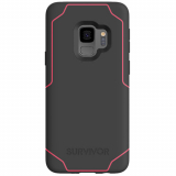 Samsung Galaxy S9 Griffin Survivor Strong Series Case - Gray/Pink