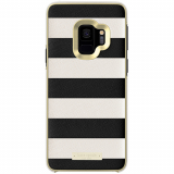 Samsung Galaxy S9 Kate Spade New York Inlay Wrap Case - Saffiano Black and White Stripe