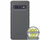 **NEW**Samsung Galaxy S10 PureGear DualTek Case with PurePledge Protection - Clear/Black