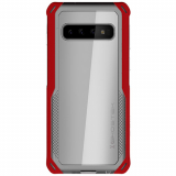 Samsung Galaxy S10 Ghostek Cloak 4 Series Case - Red/Clear