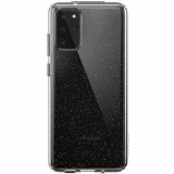Samsung Galaxy S20+ Speck Perfect Glitter Series Case w Microban - Clear w Gold Glitter/Clear