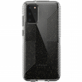 Samsung Galaxy S20+ Speck Perfect Clear Grip Series Case w/ Microban - Clear with Gold Glitter/Clear